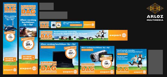 Portfolio banners: Flash, Gif banner pakket