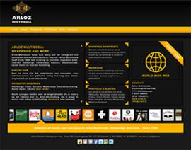 Flash webdesign website Arloz