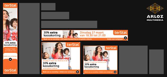 Portfolio banners: Flash, gif en bannersets