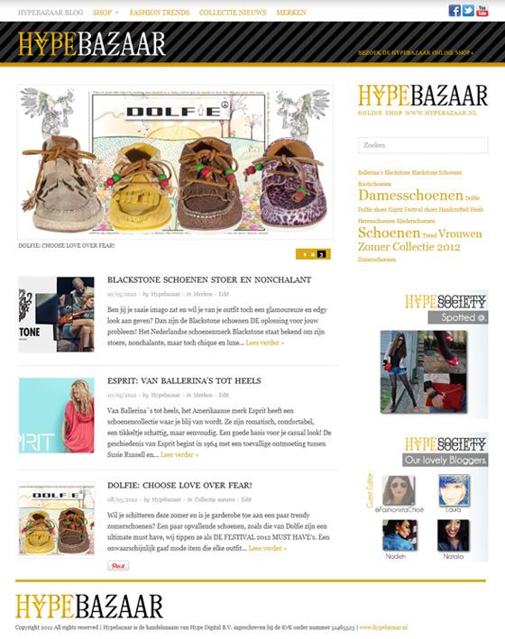 Webwinkel blog kledingwinkel blog.hypebazaar.nl